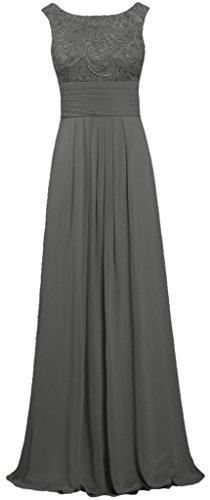 Full Prom Chiffon Dress Skirt (ANTS Women's Tank Lace Chiffon Prom Dresses Long Evening Gown Size 22W US Grey)