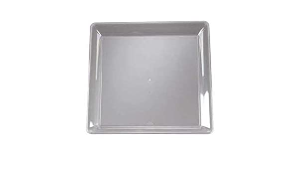 Black 14 x 14 Inch Plastic Square Trays Case of 25