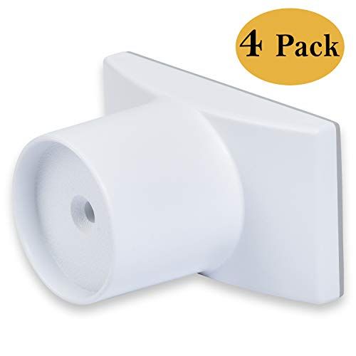 Wall Nanny Extender - 4 Inch Baby Gate Extension (Made in USA) Extends Pressure Mounted Gates + Protects Walls + Stabilizes Gate - for Child, Pet & Dog Gates - Works on Stairs - 4 Pack Wall Protector