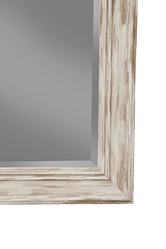 Sandberg Furniture Farmhouse, Full Length Leaner Mirror, Antique White Wash by Sandberg Furniture (Image #4)