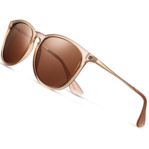 Sunglasses for Women Polarized uv Protection Wearpro Fashion glasses Vintage Round Classic Retro Aviator Mirrored Sun glasses (Lotus color) (Women Eyewear)