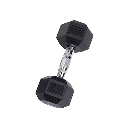 Body-Solid Rubber Coated Hex Dumbbell 20 lb.