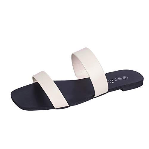 Mocassins Tête Ronde Plat Paresseux Cool Beige Couleur Sport De Chaussures Mode Avec Femmes L'orteil Pantoufles Solide Fond Casual Sandale Unie 8wqPBt6