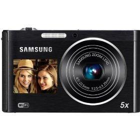 Samsung Shoot Point - Samsung DV300F Dual View Smart Camera - Black (EC-DV300FBPBUS) (Discontinued by Manufacturer)
