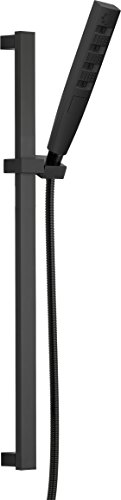 Delta Faucet 5-Spray Touch-Clean H2Okinetic Slide Bar Hand Held Shower with Hose, Matte Black 51140-BL
