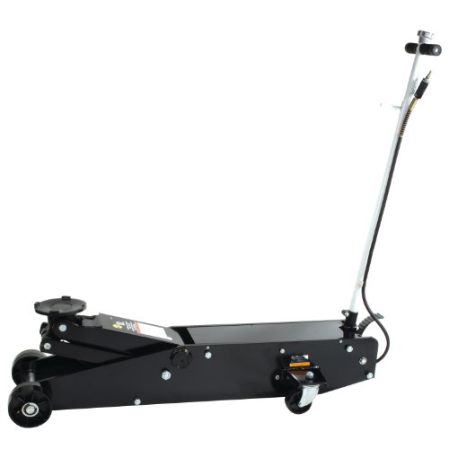 Omega 22101C Black Hydraulic Long Chassis Service Jack - 10 Ton ()