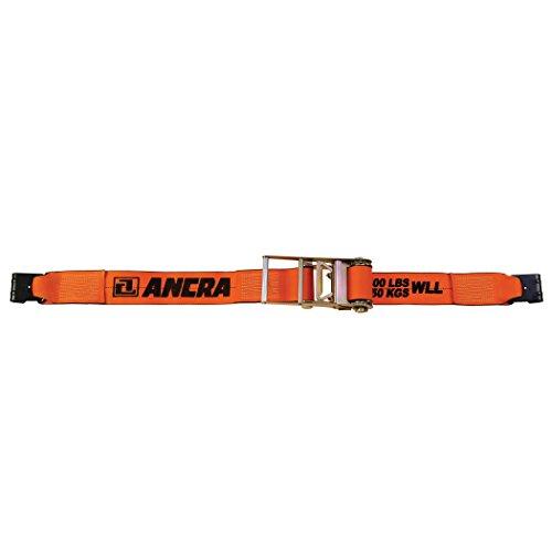 Ancra 49346-90-30 Extreme Web Ratchet with Flat Hooks, 4-Inch x 30-Feet