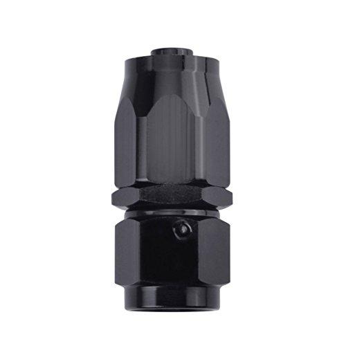 ESPEEDER AN 6 Straight Swivel Oil Fuel Hose End Fitting Adapter Aluminum Black