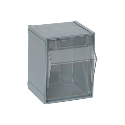 Quantum Storage Clear Tip Out Storage Bins   4in. X 4 1/2in.