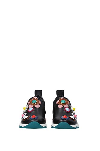 8e60066vgf0bhu Sneakers Fendi Donna In Pelle Nero Nero