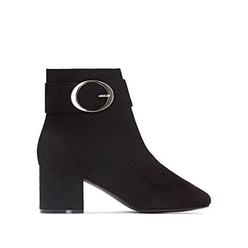 mit R Gre Boots Mademoiselle Frau Schnallendetails Schwarz 36 qt6vxA