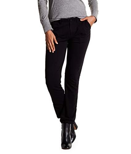 Sanctuary Womens Large Petite Stretch Zip-Leg Jogger Pants Black PL