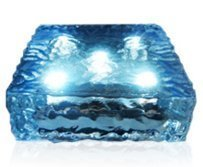 6x6 Solar LED Paver Light - 5 Ultra Bright, Elegant LED Lights - Automatic Light Sensor - No Wires Easy to Install - Water Resistant (Stones Stepping Powered Solar)