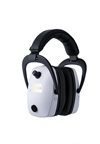 Pro Ears - Pro Slim Gold - Electronic Hearing Protection and Amplification -  NRR 28 - Ear Muffs - White by Pro Ears (Image #1)