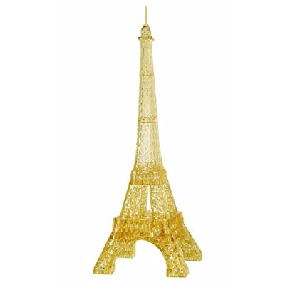 Bepuzzled Original 3D Crystal Puzzle Deluxe - Eiffel Tower - Fun yet challenging brain teaser that will test your skills and imagination, For Ages 12+: Toys & Games