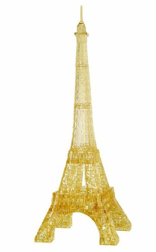 Bepuzzled 3D Crystal Puzzle Eiffel Tower Deluxe University Games 30959