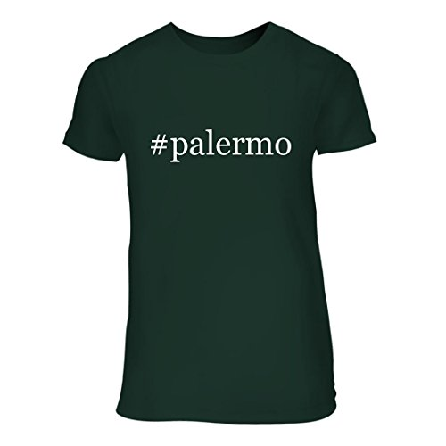 fan products of #palermo - A Nice Hashtag Junior Cut Women's Short Sleeve T-Shirt, Forest, Large
