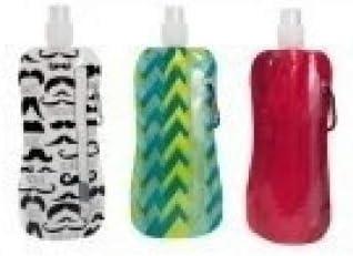 Botella reutilizable plegable - respetuoso con el medio ambiente: Amazon.es: Hogar