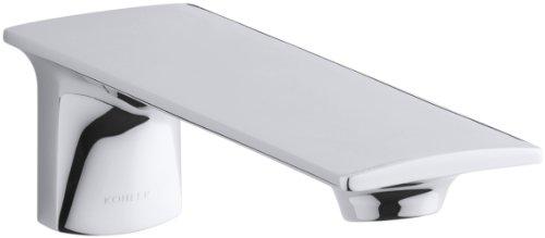 KOHLER K-14795-CP Stance Wall-Mount Bath Spout, Polished Chrome
