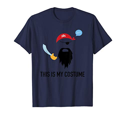 (This Is My Pirate Costume Funny T-Shirt Cool Halloween)