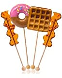 Big Giant Lollipops Unique Candy Box Set Featuring Bacon, Donut, and Waffle with Maple Syrup Flavored Candy