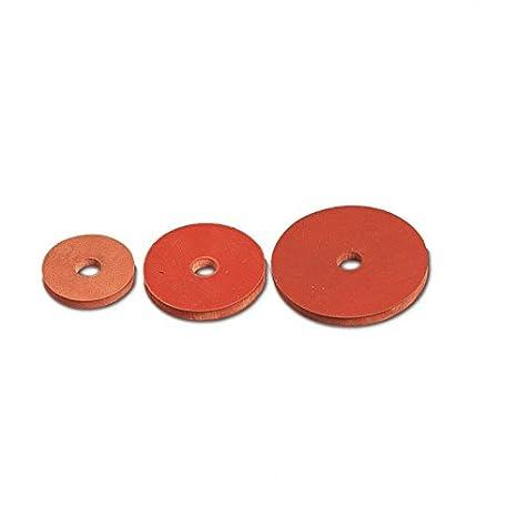 Junta de goma flexible, roja Junta para válvula de flotador 1 1/2 x