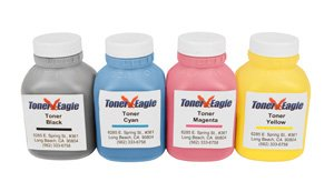 Toner Eagle Brand Compatible Hewlett Packard (HP) Color Laserjet CP2025 CP2025n CM2320 Four Color Toner (CC530A CC531A CC532A CC533A) Refill Kit, Office Central