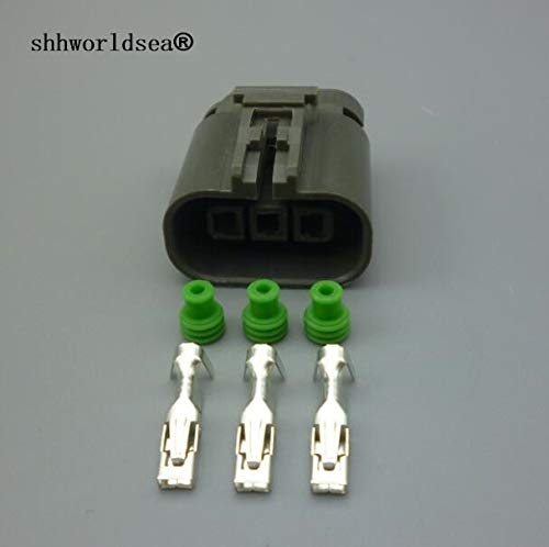 Davitu 3 Pin 2.8mm Automotive Ignition Coil Female Plug car O2 Oxygen Sensor Connector plug 7223-1834-40 For Nissan - (Color Name: 2sets) (Nissan Pin)