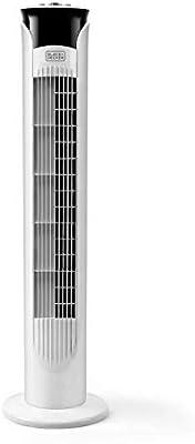 Black + Decker – BXEFT47E Ventilador de torre oscilante silencioso. 81 cm de altura. 3 velocidades. Temporizador 2 horas. Base antideslizante. Asa de transporte ...