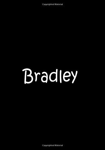 Read Online Bradley - Black Personalized Notebook / Journal / Blank Lined Pages / Soft Matte: An Ethi Pike Collectible pdf