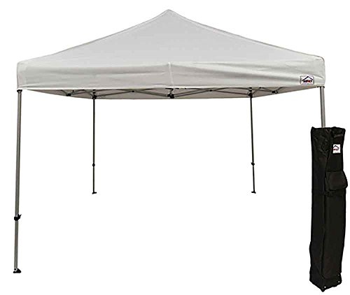 Impact Canopy 10' x 10' Pop-Up Canopy Tent, Straight-Leg Shelter with Steel Frame and Roller Bag, - Canopy Impact Top