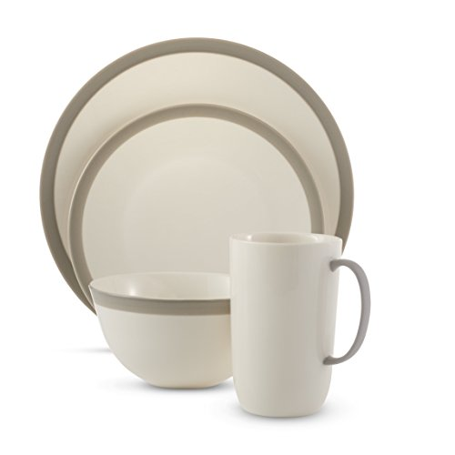 Wedgwood 4 Piece Vera Gradients Place Setting, Linen