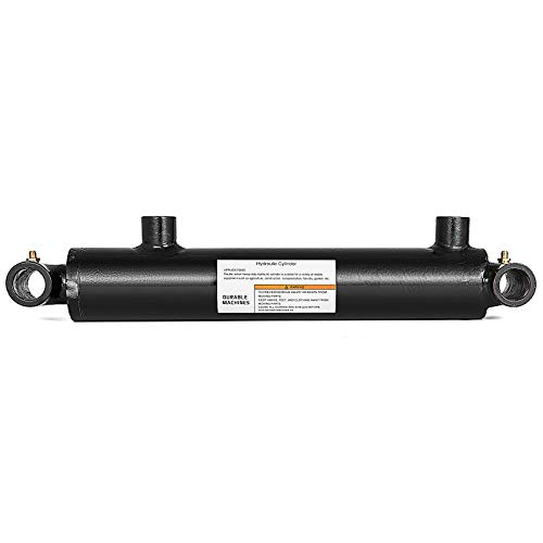 Mophorn Hydraulic Cylinder 2.5 Inch Bore 12 Inch Stroke Double Acting Hydraulic Cylinder 2.5x12 Black Hydraulic Cylinder Welded Double Acting Cross Tube (12 Fully Threaded Rods 8 32 Diameter)