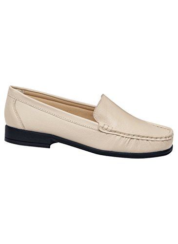 Carol Wright Geschenken Lederen Loafer, Ivoor, Maat 6 (breed)