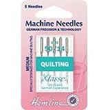 H106,90 Hemline-Aghi per macchina da cucire, per trapuntatura, misura media, 5 pezzi, 90/14/Machine Quilting