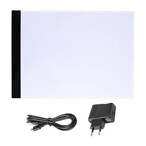 Panneau de dessin A4/LED lumineux lumi/ère portable r/églable Charge avec c/âble USB Table de Lumi/ère Tactile Gloss pour enfant et dise/ñadores