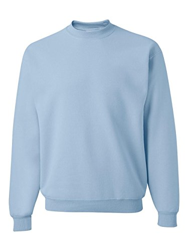 - Jerzees Men's NuBlend Crew Neck Sweatshirt, Light Blue, Small