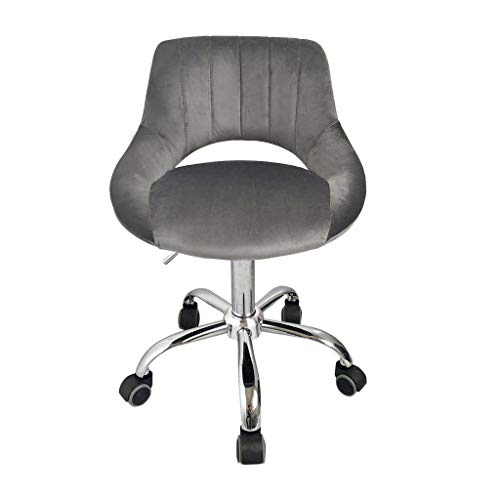 Pollyhb Office Chair Leather Desk with Adjust Seat Height Swivel Chair Computer Network Chair (A)