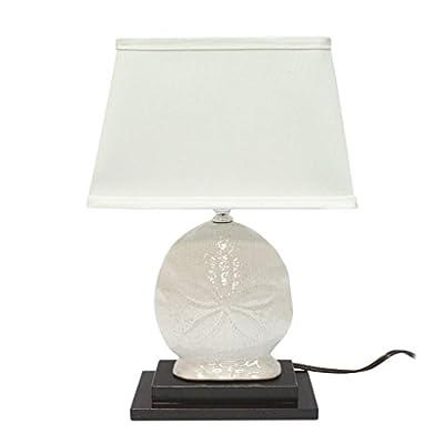 DEI Sand Dollar Ceramic Lamp