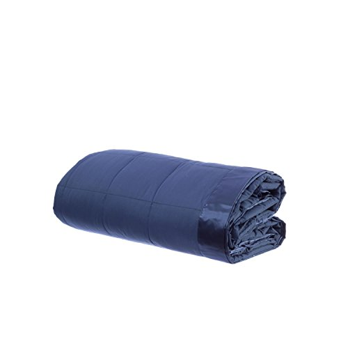 Design Weave All Season Temperature Regulating Hypoallergenic Blanket - 300 Thread Count, 100% Cotton Sateen Weave, King Midnight Blue ()