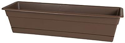 "Bloem Dura Cotta Window Box Planter with Tray, 18"""