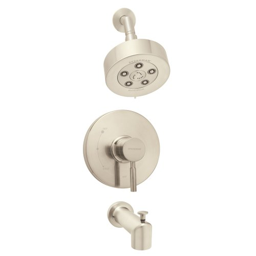 Speakman SM-1030-P-BN Neo Anystream Shower Head with Diverter Tub Spout and Pressure Balance Valve Shower Combo, Brushed Nickel by Speakman