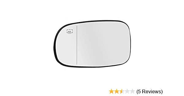 exactafit 8191L Replacement Side Mirror Glass Lens fits Driver Left Hand LH for Saab 9-3 93 95 9-5 by Rugged TUFF