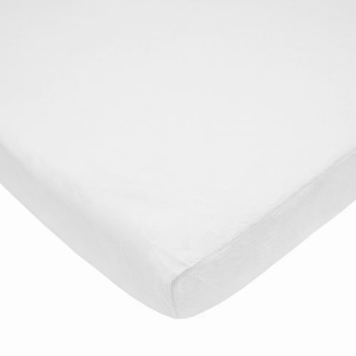 American Baby Company Heavenly Soft Chenille Fitted Pack N Play Playard Sheet, White, 27 x 39, for Boys and Girls