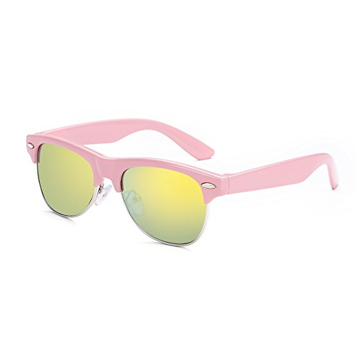 Price comparison product image HMILYDYK Kids Sunglasses Polarised Wayfar Style Full UV400 Ray Protection Junior Boys Girls Party Glasses
