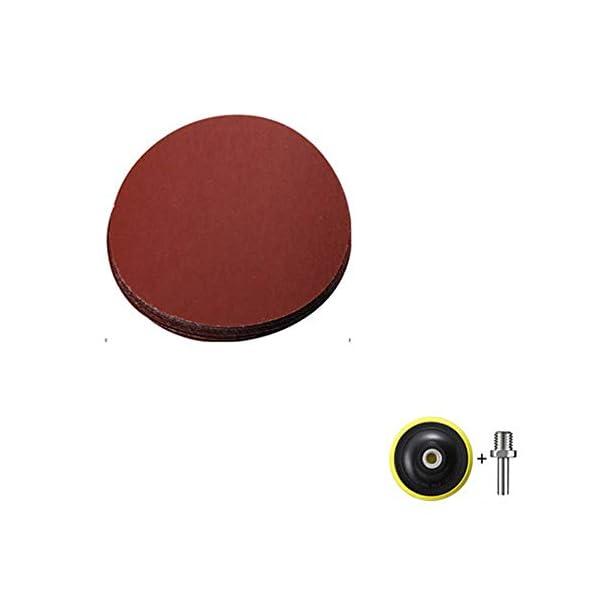 CROWNXZQ-Carta-abrasiva-per-lucidatura-Auto-200-Pezzi-levigatrice-elettrica-a-2000-Maglie-Carta-vetrata-Rotonda-Floccata-Adatta-per-smerigliatrice-angolare-Bagno-Auto-Impasto-di-Cemento