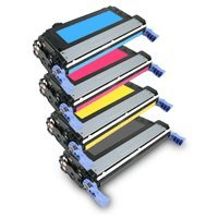 Compatible for HP CP4005 Toner Cartridges Combo - 4pk (BCMY) for Color LaserJet CP4005dn