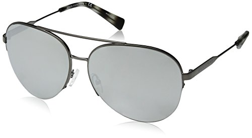 Armani Exchange Men's Metal Man Non-Polarized Iridium Aviator Sunglasses, Matte Gunmetal, 60 - Emporio Sunglasses Armani Polarized