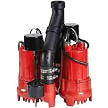 Red Lion RL-SC33DUP 1/3 HP Dual Automatic Cast Iron Sump Pump System with 10-Feet Power Cord