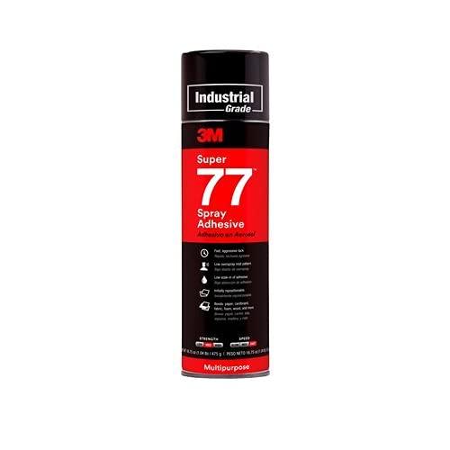 3M Super 77 Spray Adhesive Aerosol Clear - 24 oz